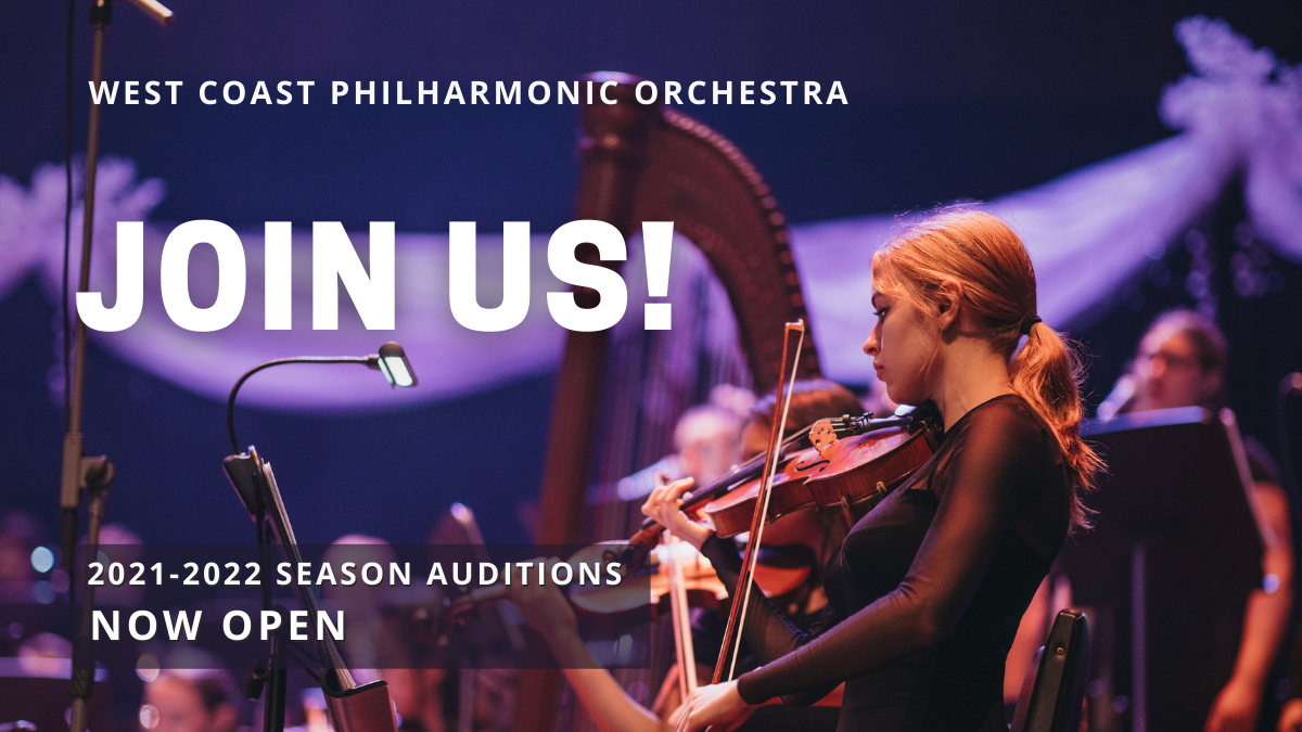 Join the West Coast Philharmonic in 2021-22!